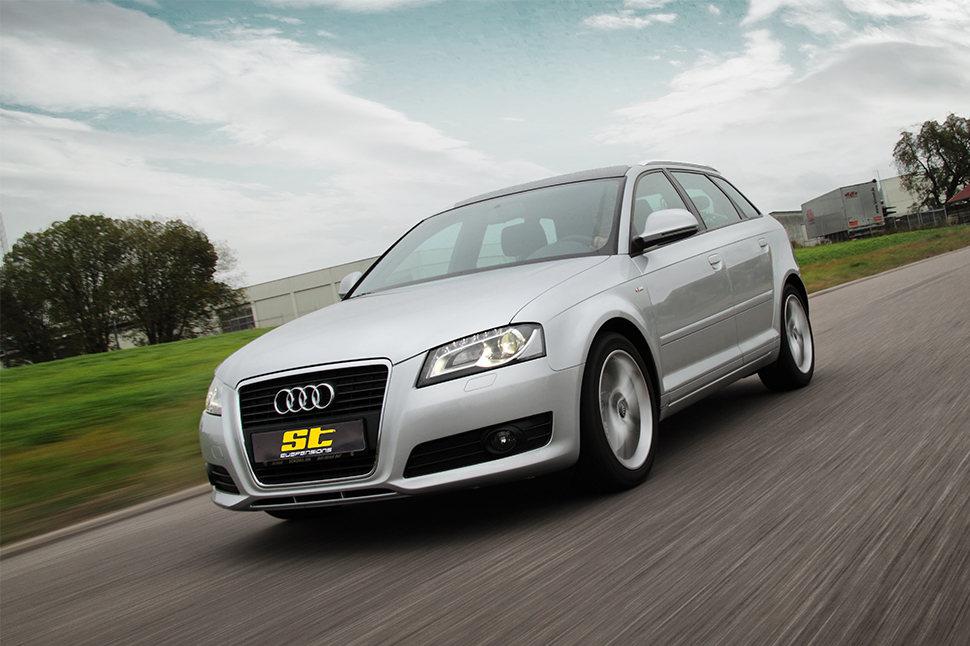 Egal ob dezent, oder das maximal technisch Mögliche: mit unseren ST Spurverbreiterungen sorgst Du für das perfekte Feintuning Deiner am Audi A3 (8P, 8PA) montierten Rad-/Reifenkombination.