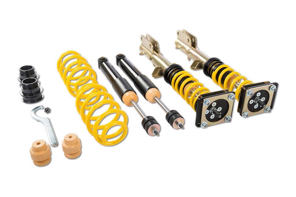 Nach Vorgaben des Teilegutachtens sind an der BMW E46 Vorderachse 40 - 75 Millimeter und an der BMW E46 Antriebsachse 30 - 60 Millimeter möglich.